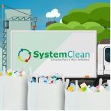 coleta de resíduos sólidos de construção